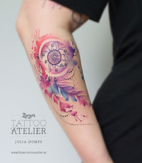 Tattoo Designs Uk: 50 Dreamcatcher Tattoo Designs