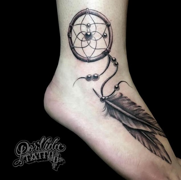 50 dreamcatcher tattoo designs nenuno creative. Black Bedroom Furniture Sets. Home Design Ideas