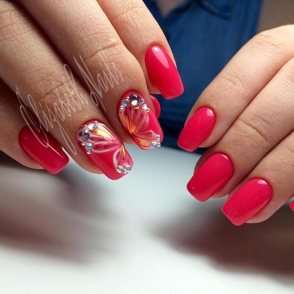 Сміливий баттерфляй.  Це моя особиста улюблена, як вона включає сміливий рожевий колір з налаштуванням блиску і стразами, що все робить прекрасний метелик.