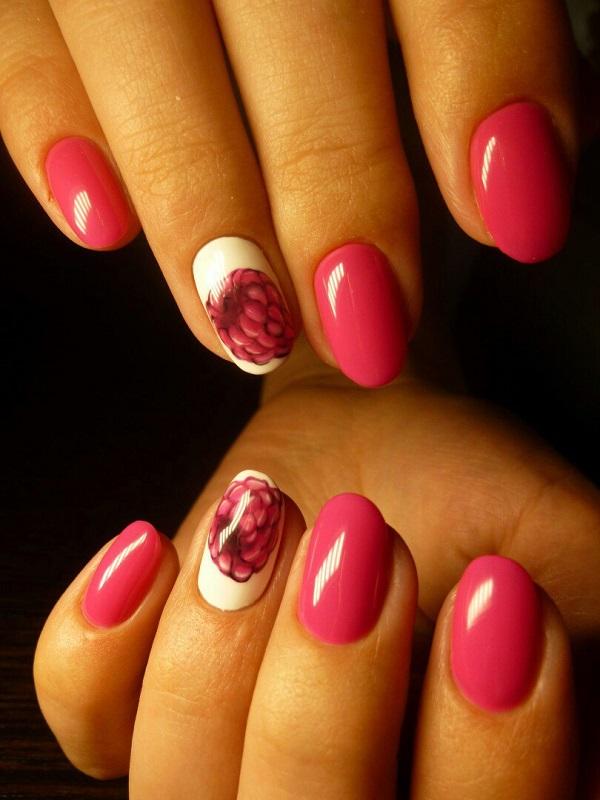 Перший квітник весни.  Насолоджуйтесь першим весняним цвітом з трохи абстрактним, але унікальним виглядом рожевого та білого дизайну нігтів.