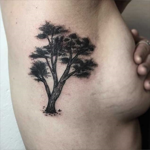 51aebff37 Black Inked Tree. This black inked tattoo is specially made for the girls,  however