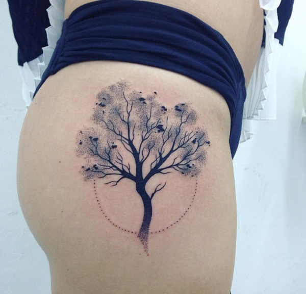 Charming asian branch tattoo consider