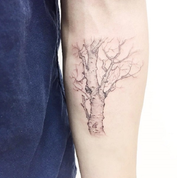 55 tree tattoo designs nenuno creative rh nenuno co uk half bare tree tattoo half bare tree tattoo