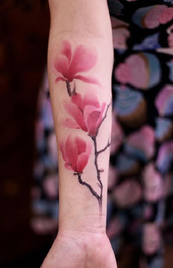 70 Magnolia Flower Tattoo Design Ideas - nenuno creative