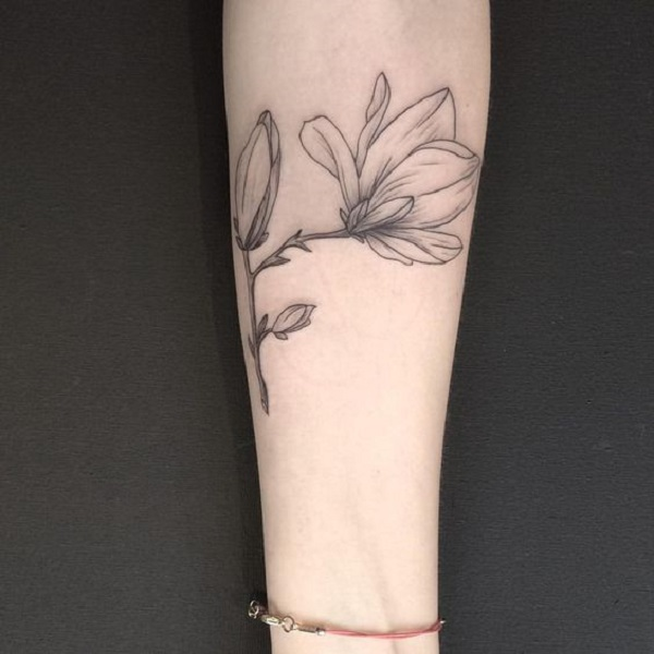 70 Magnolia Flower Tattoo Design Ideas Nenuno Creative