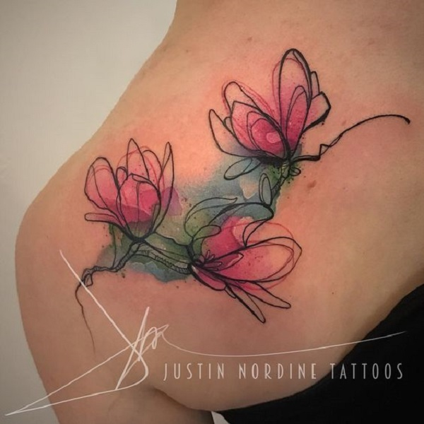 70 Magnolia Flower Tattoo Design Ideas
