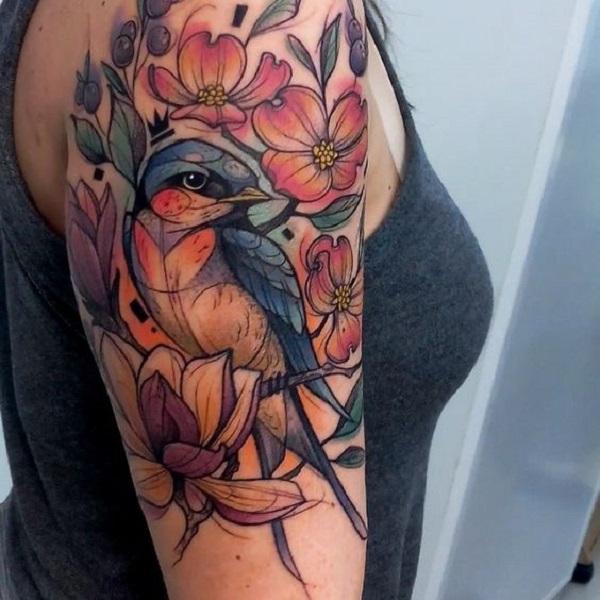 magnolia foot tattoo - photo #44