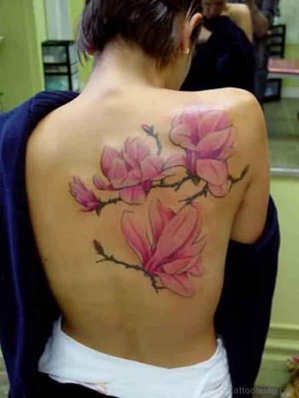Southern magnolia tree tattoo