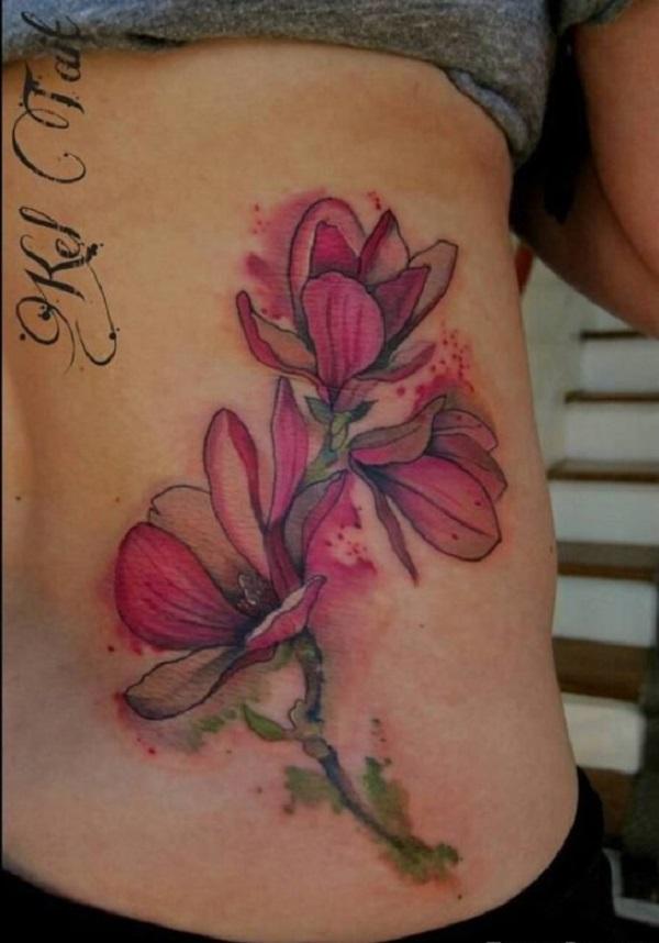 magnolia foot tattoo - photo #10