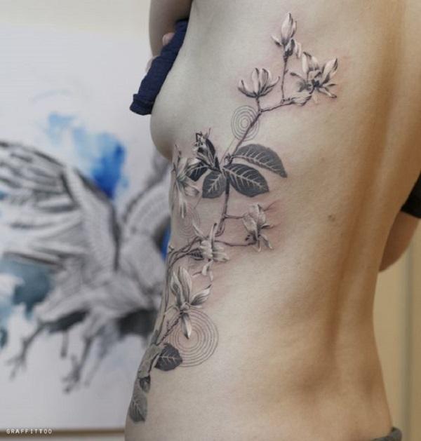 Vintage Magnolia Tattoo Design. Vintage tattoos are going ...