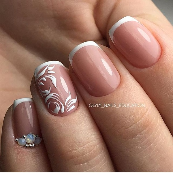 60 White Nail Art Designs Nenuno Creative