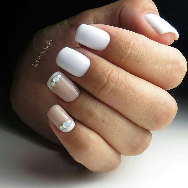 Elegant White Nail Art. If you want to keep it simple, try this amazing - 60 White Nail Art Designs - Nenuno Creative