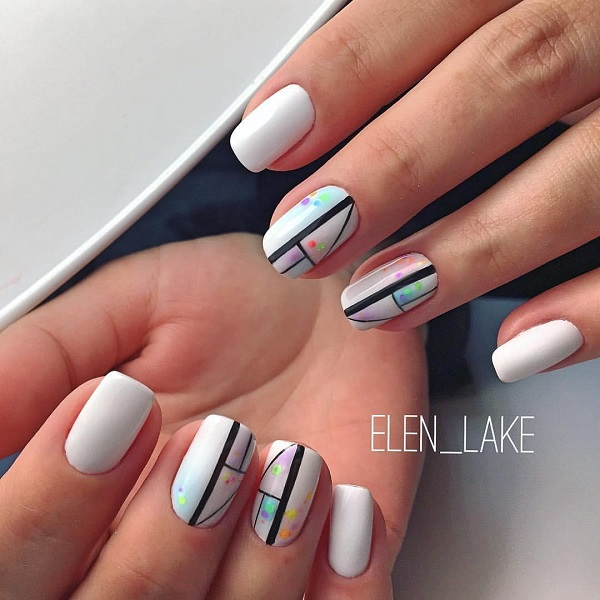 60 white nail art designs nenuno creative this patterned white nail art design patterned white nail art design is something really easy prinsesfo Choice Image