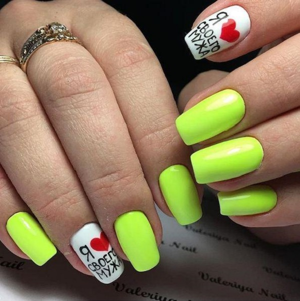 Yellow Dutch Nail Art Design. Expressing your feelings through your nails  have become a trend - 45 Yellow Nail Art Designs - Nenuno Creative