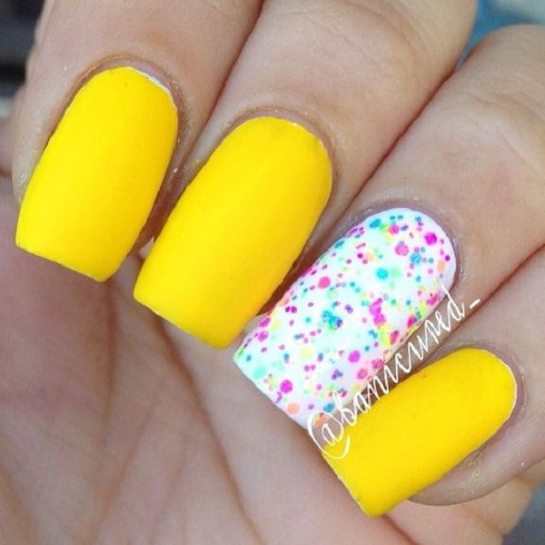 45 Yellow Nail Art Designs Nenuno Creative