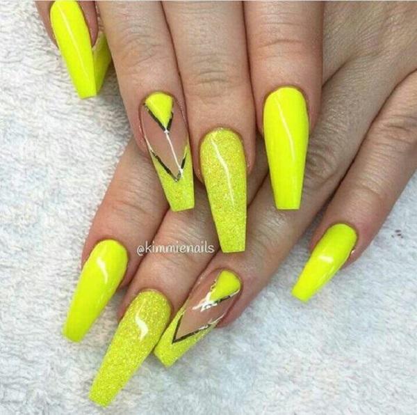 45 Yellow Nail Art Designs , nenuno creative