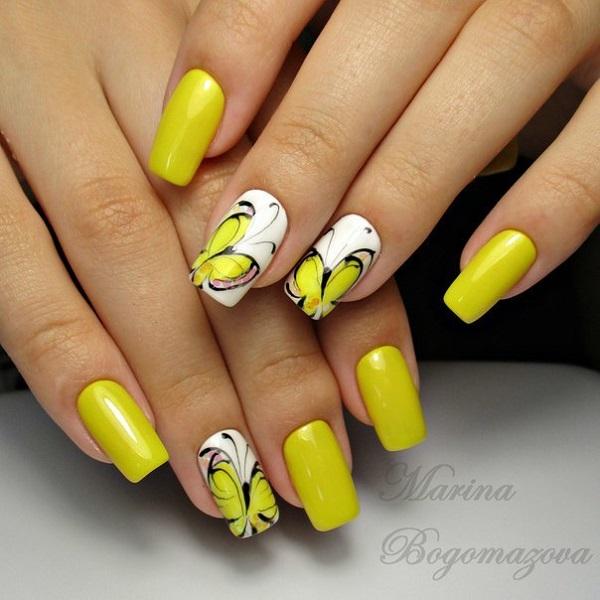 45 Yellow Nail Art Designs Nenuno Creative