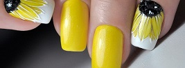 45 Yellow Nail Art Designs