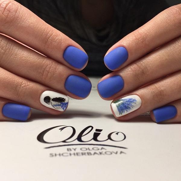 65 Blue Nail Art Ideas Nenuno Creative