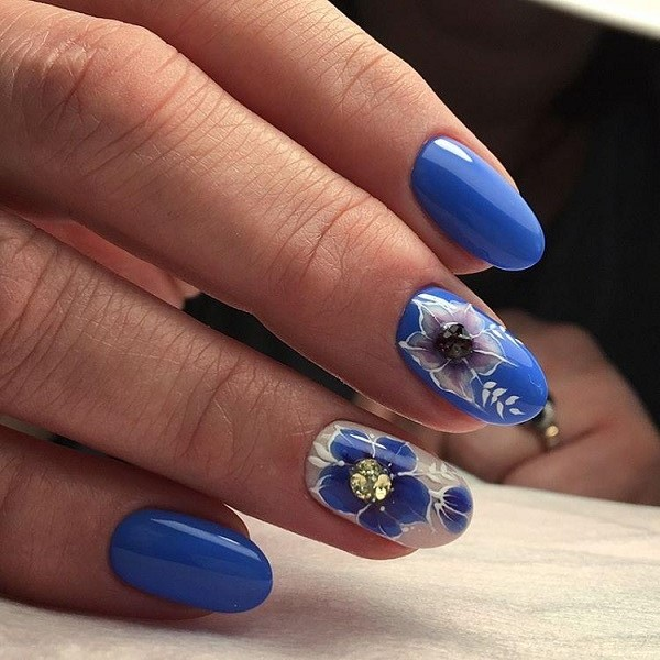 65 blue nail art ideas deutschstylefo sea themed nail art design blue color is always associated with the sea so try on this sea themed nail art design with sea themed accessories to get prinsesfo Choice Image