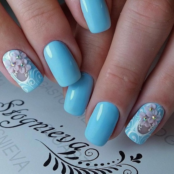 65 Blue Nail Art Ideas Nenuno Creative