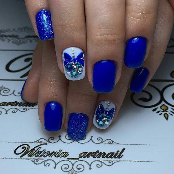 65 blue nail art ideas nenuno creative fashionable and elegant looking blue themed nail art design another very pretty blue nail art prinsesfo Images