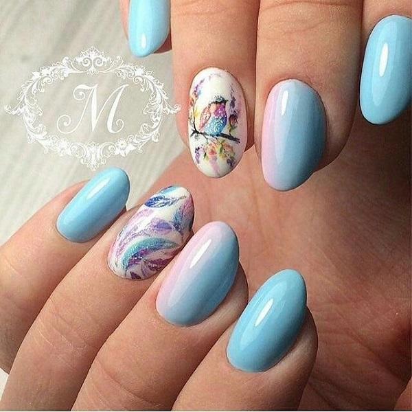 65 Blue Nail Art Ideas - nenuno creative