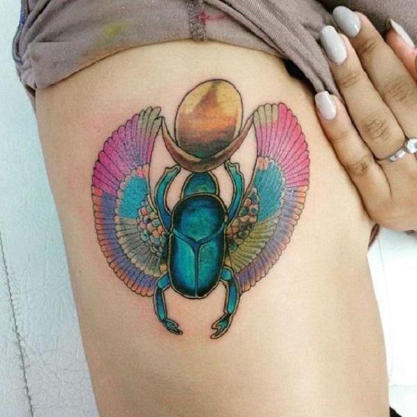 50 beetle tattoo designs nenuno creative for Scarab tattoo designs