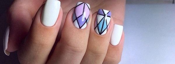60 geometric nail art ideas nenuno creative 60 geometric nail art ideas prinsesfo Images