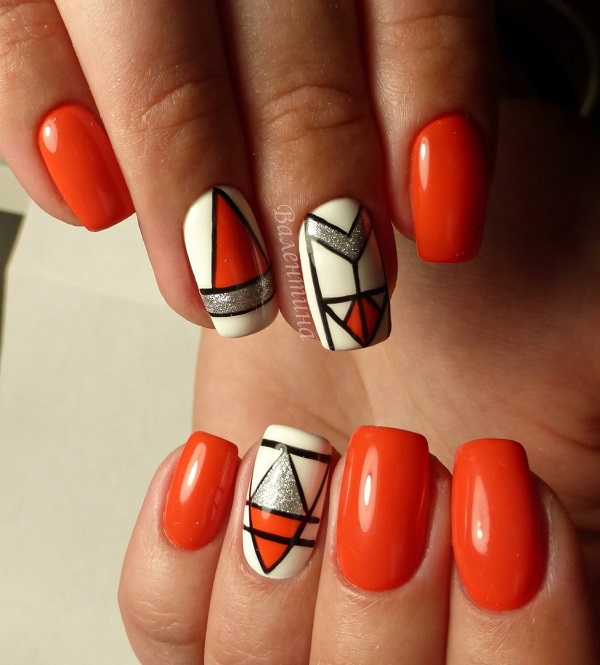 60 GEOMETRIC NAIL ART IDEAS - nenuno creative