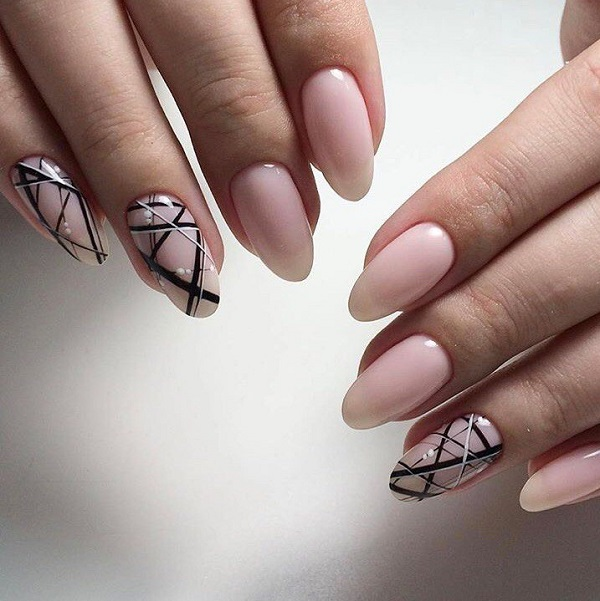 60 geometric nail art ideas nenuno creative monochrome geometric nail art if you love the trendy nudes and the geometric nail art prinsesfo Images
