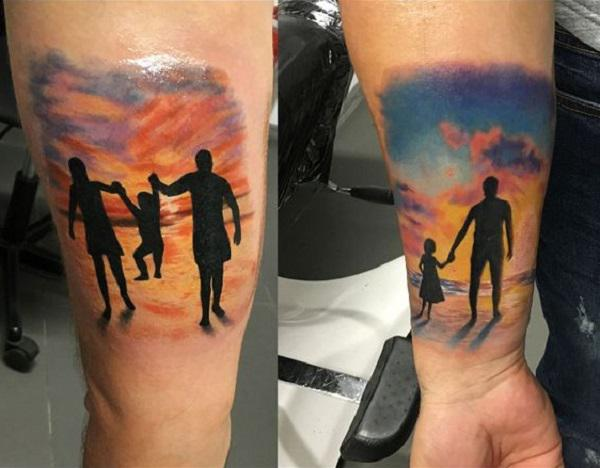 6b85c7ebbb861 This Cute Family Tattoo. This inner arm tattoo piece is something worth  sharing.