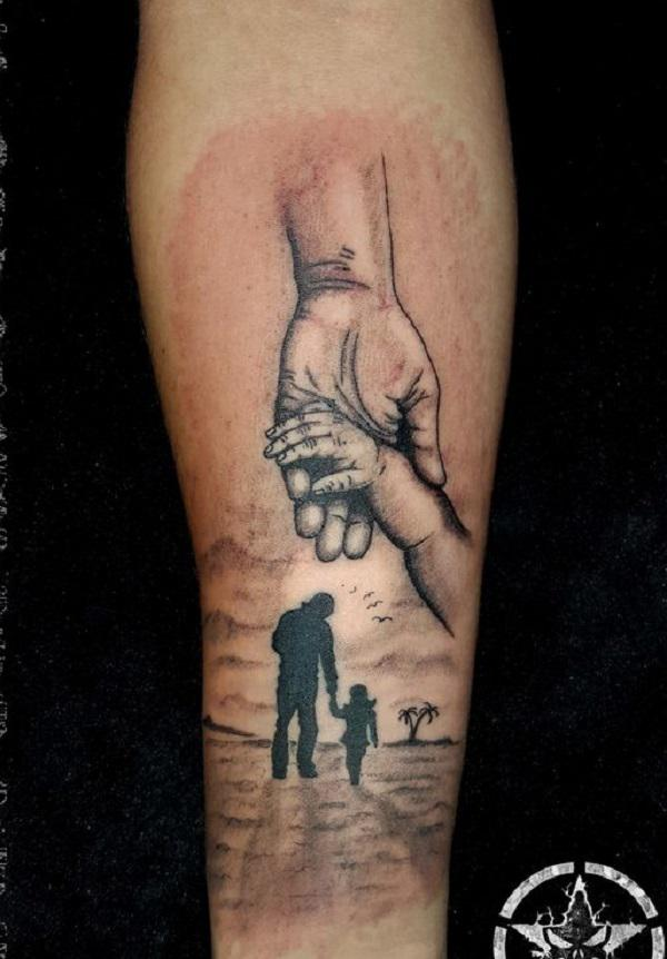 hand holding mirror tattoo. Holding Hands Tattoo. Relive The Moment When You First Held Hand Of Your Child Mirror Tattoo