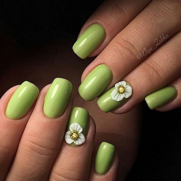 55 summer holiday nail art ideas nenuno creative parrot green elegant summer holiday nail art design want something elegant to go with your prinsesfo Gallery